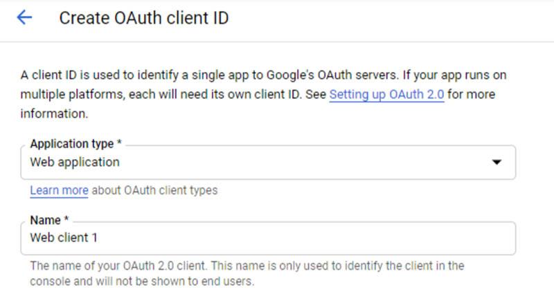 הגדרת אפליקציית התחברות ב-Google APIs