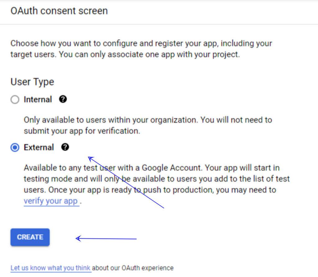 הגדרת אפליקציית התחברות ב-Google APIs - מסך התחברות
