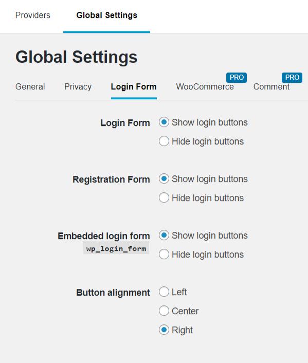 Nextend Social login - היכן להציג כפתורי התחברות חברתית