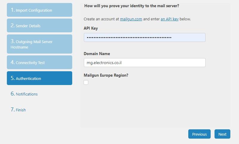 Mailgun API - Authentication