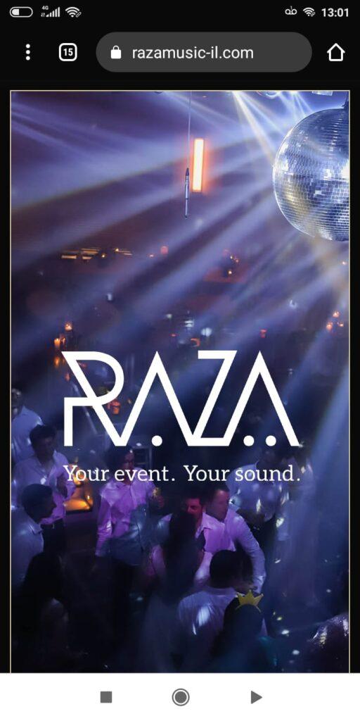 אתר RAZA במובייל